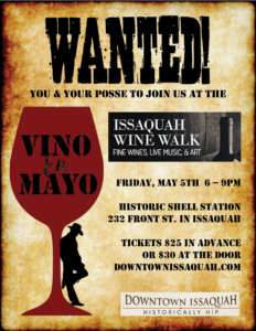 Downtown Issaquah Wine Walk Series - May 5th, 2017 @ Historic Shell Station | Issaquah | Washington | United States