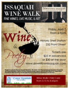 Downtown Issaquah Wine Walk Series - April 7th, 2017 @ Historic Shell Station | Issaquah | Washington | United States